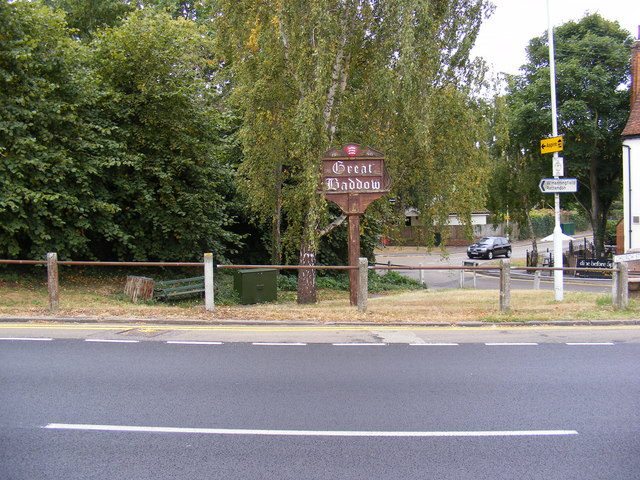 Great Baddow Village Sign