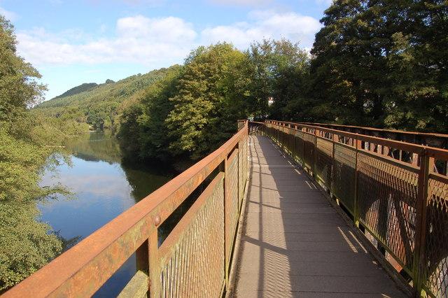 Footbridge over the Wye at Redbrook