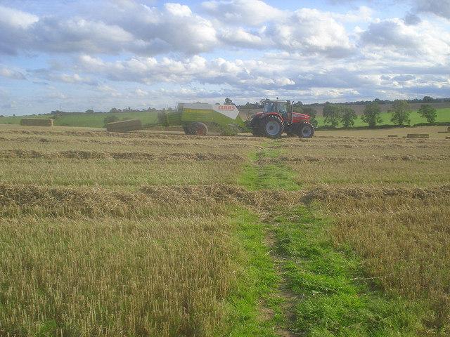 Straw baling at Manor Farm