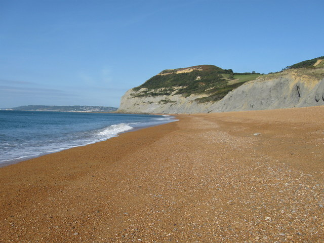 Golden Cap, from the beach at Seatown,  Dorset