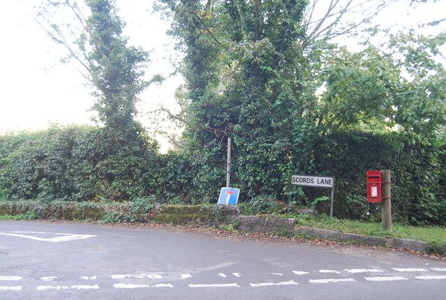 Post box, Scords Lane, Toy's Hill