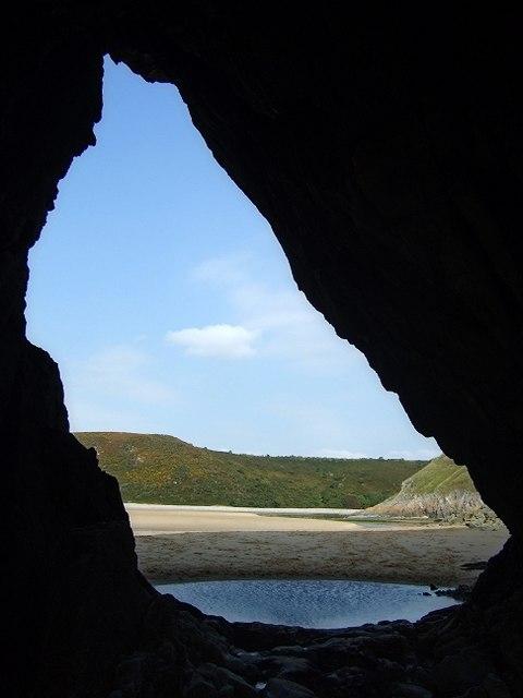 Pennard Pill & Burrows through Three Cliff Cave