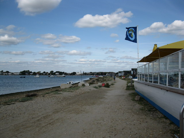 The track along Mudeford Spit by the cafe