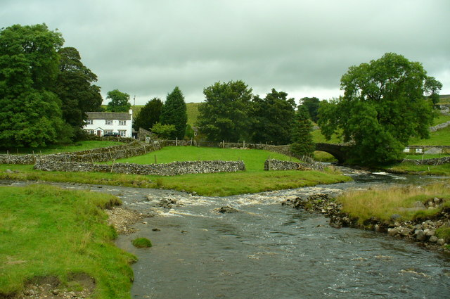 River Wharfe and Green Field Beck merging
