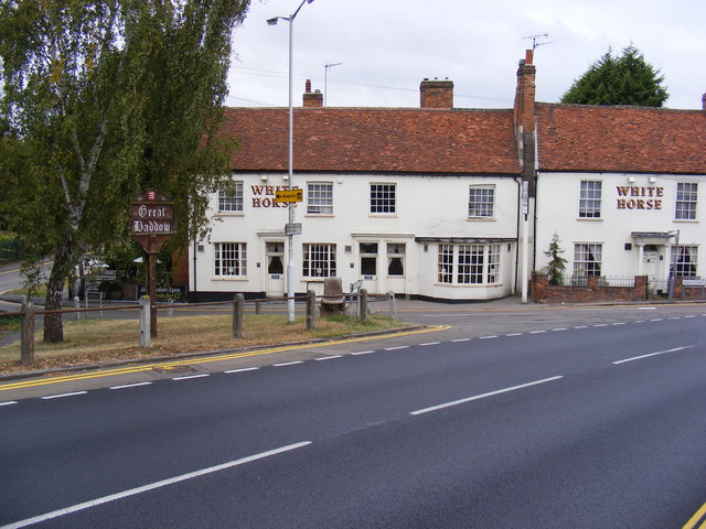 Great Baddow Village Sign & White Horse Public House