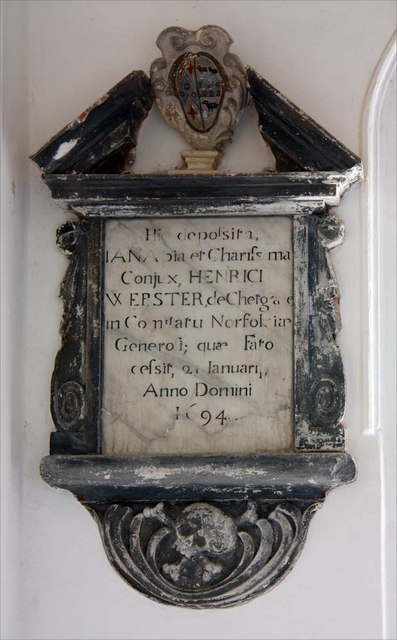 All Saints, Chedgrave, Norfolk - Wall monument