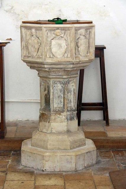 All Saints, Chedgrave, Norfolk - Font