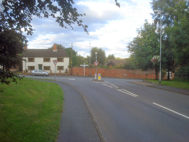 Road junction at Heather