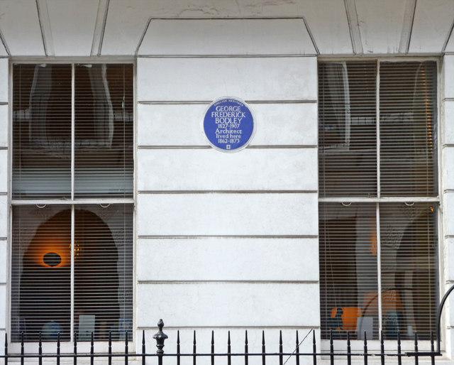 Blue Plaque for George Frederick Bodley, Harley Street