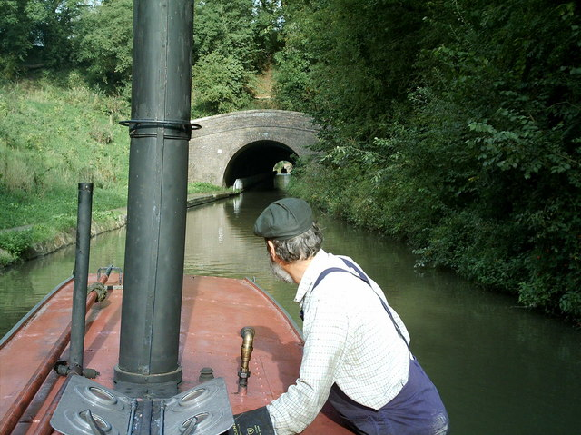 Steaming into the Canal tunnel