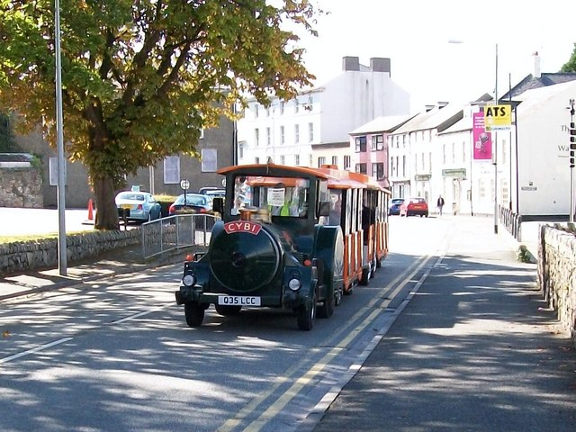 "The Holyhead Breakwater Land Train ""Cybi"" at Caernarfon"