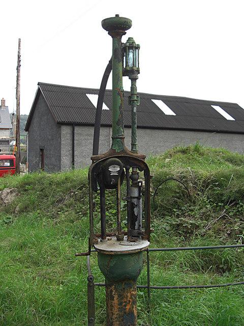 An old petrol pump