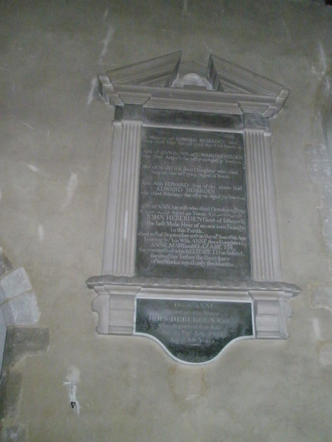 Ancient memorial on the north wall at St Michael, Chalton (1)
