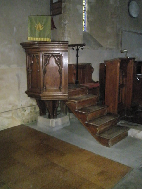 The pulpit at St Michael, Chalton