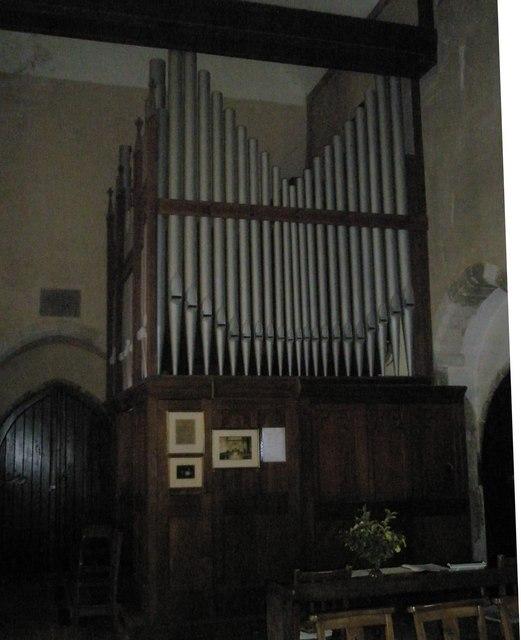 The organ at St Michael, Chalton