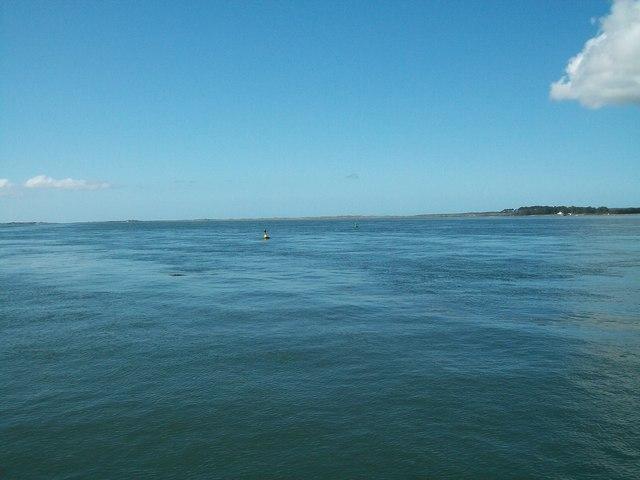 Afon Menai/ Menai Straits from Doc Victoria