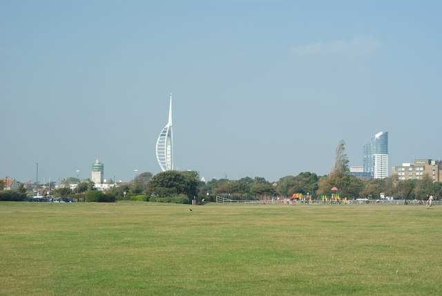 View Across Southsea Common, Hampshire