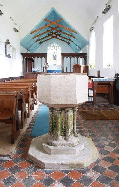 St Mary, Thwaite St Mary, Norfolk - Font