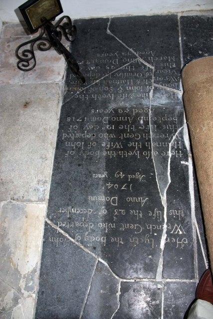 St Mary, Thwaite St Mary, Norfolk - Ledger slab