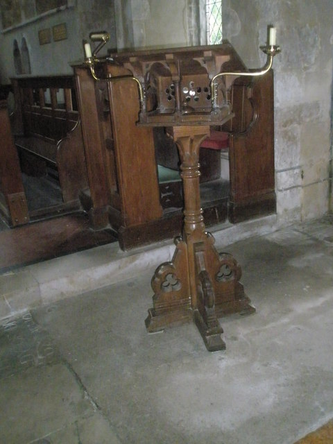 The lectern at St Michael, Chalton