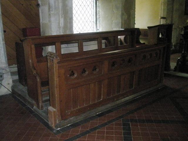 Choir stalls within St Michael, Chalton