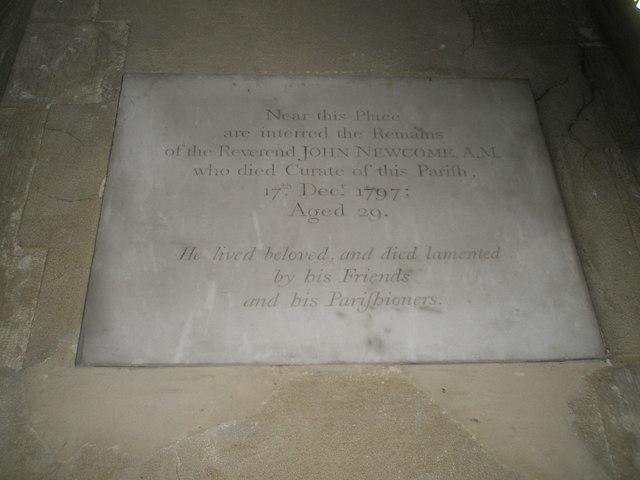 Poignant memorial within St Michael, Chalton