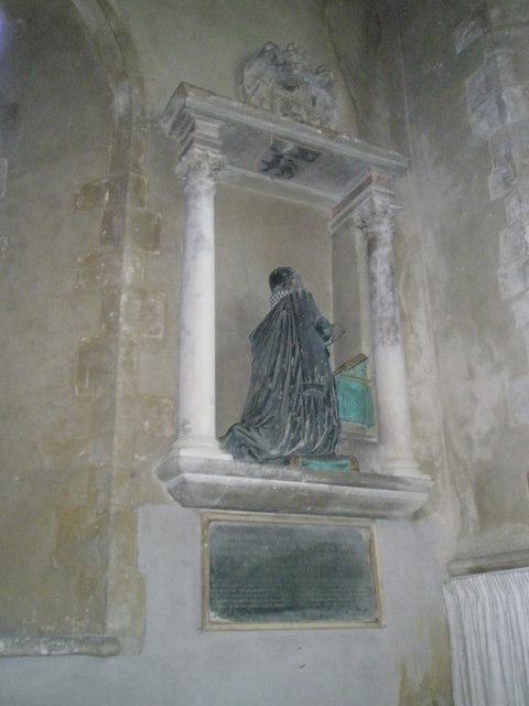 Praying figure within St Michael, Chalton