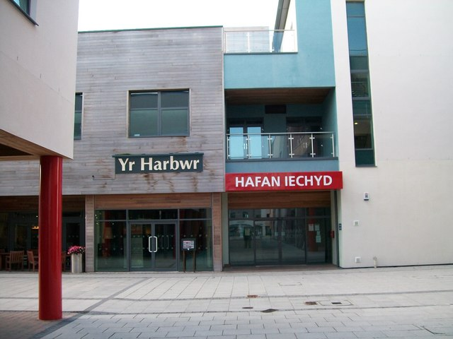 Yr Harbwr and Hafan Iechyd - two  neighbours at Doc Fictoria