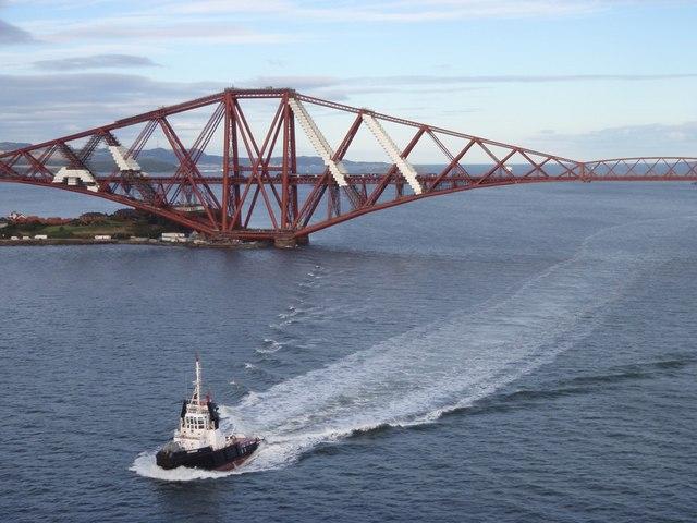 Boat and Train and Bridge