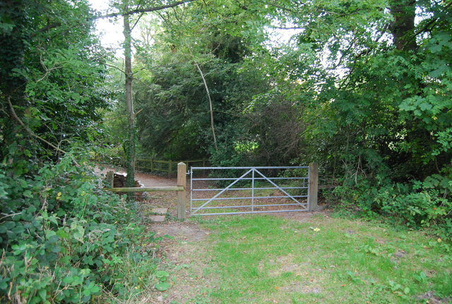 Gate on the footpath to Chartwell