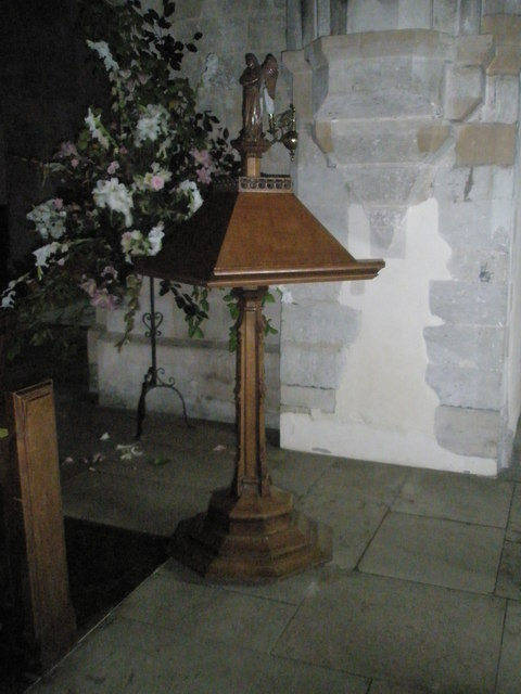The lectern at All Saints, East Meon