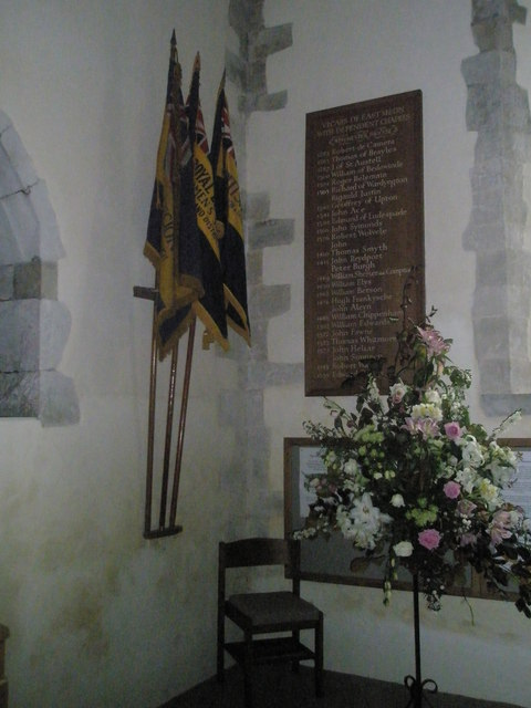 Flags within All Saints, East Meon