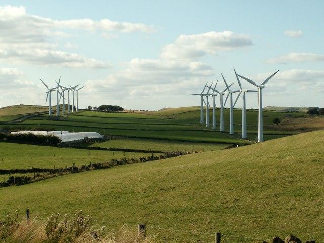 Royd Moor wind farm from Royd Moor Hill