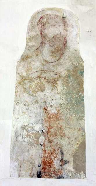 St Margaret & St Remigius, Seething, Norfolk - Wall painting