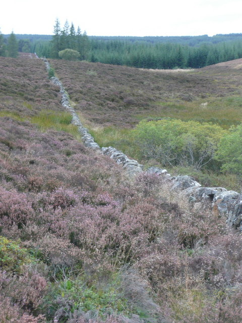 Long straight dry stone wall