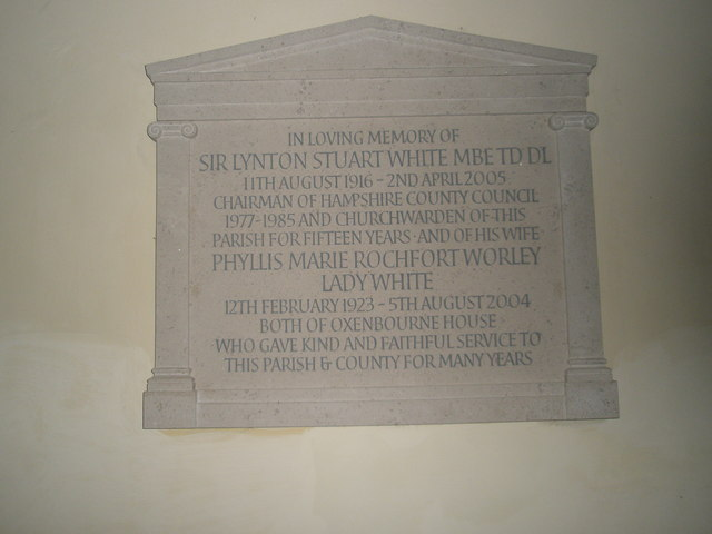 Memorial in the south transept at All Saints, East Meon (2)
