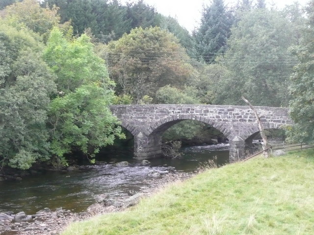 The old bridge over the River Ardle at Enochdhu