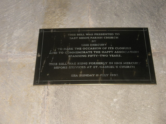 Commemorative plaque within All Saints, East Meon