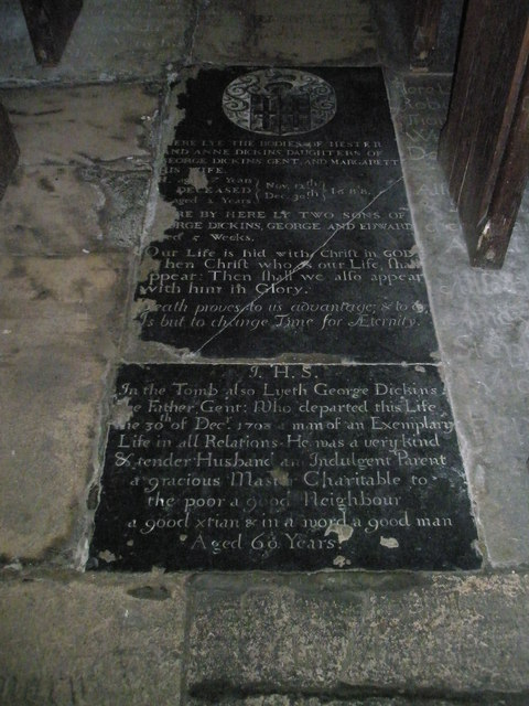 Ancient floor memorial within All Saints, East Meon