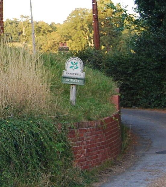 National Trust Sign, Chartwell