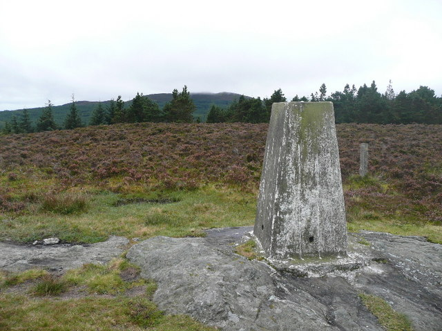 The trig point on Kindrogan Hill