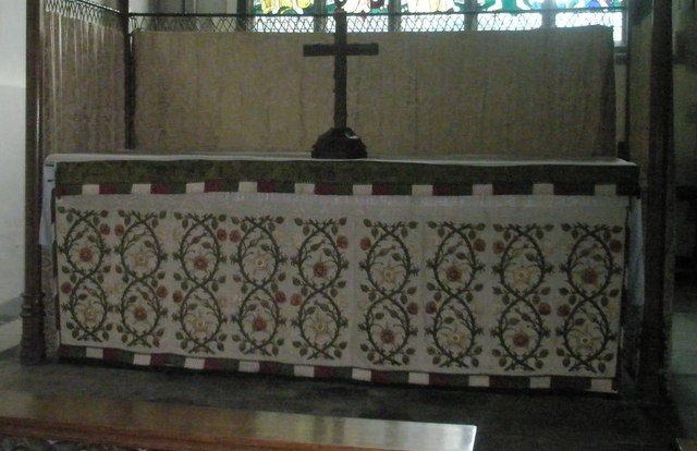 The main altar at All Saints, East Meon
