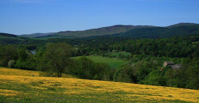 Ettrick Valley from  B7009 just outside Selkirk