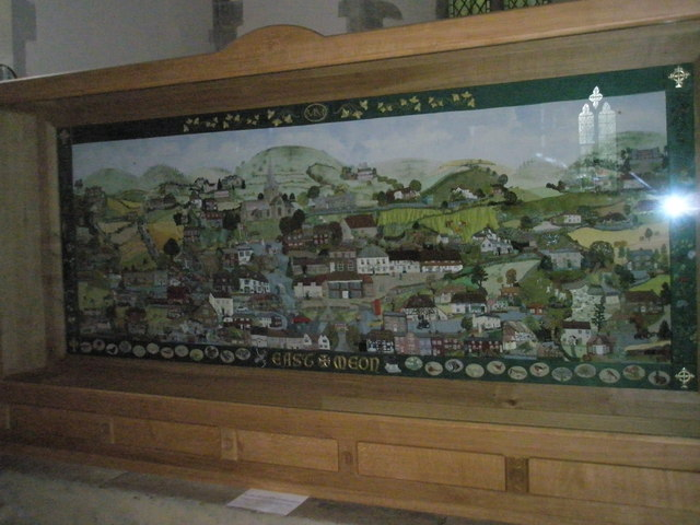 Magnificent tapestry within All Saints, East Meon
