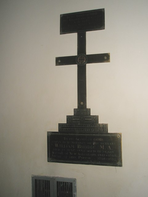 Sombre cross within All Saints, East Meon
