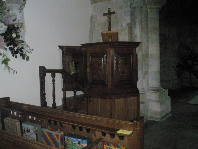 The pulpit at All Saints, East Meon