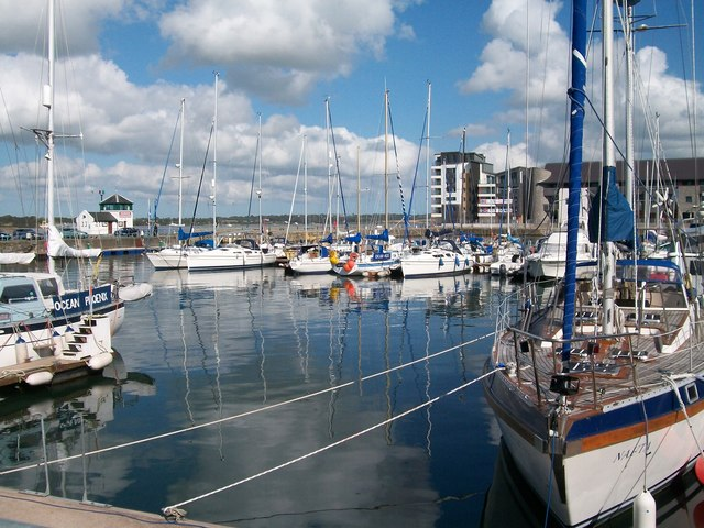 View north-eastwards across the Doc Victoria Marina