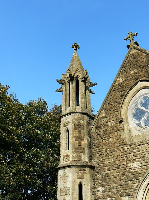 Part of the chapel, Radnor Street cemetery, Swindon