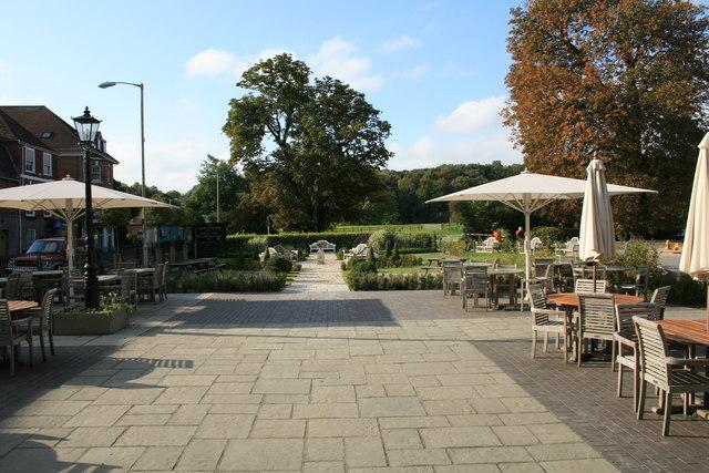 Garden of the Crown Hotel, Blandford Forum.