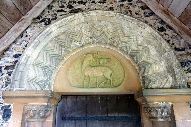 The Norman doorway to All Saints Church, Chillenden